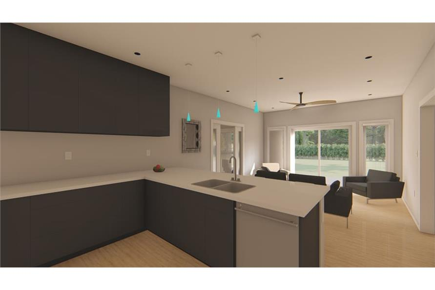 Kitchen of this 1-Bedroom,796 Sq Ft Plan -796