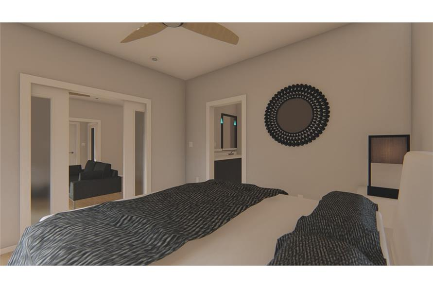 Master Bedroom of this 1-Bedroom,796 Sq Ft Plan -796