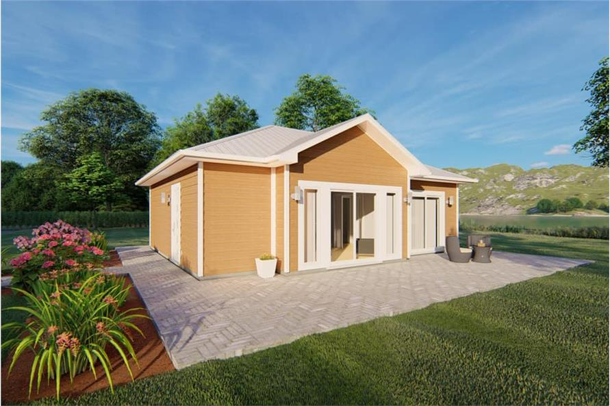 1-Bedroom, 796 Sq Ft Small House - Plan #177-1045 - Front Exterior
