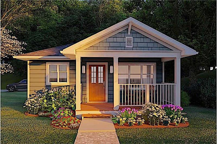 Home Plan Rendering of this 1-Bedroom,624 Sq Ft Plan -624