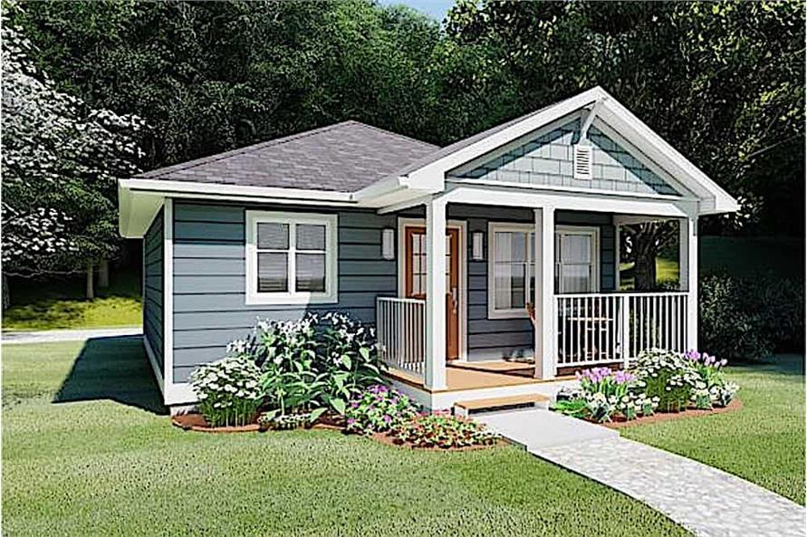 Side View of this 1-Bedroom,624 Sq Ft Plan -624