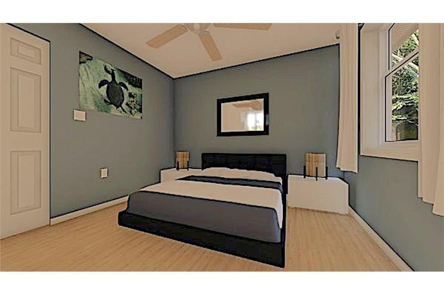 Bedroom of this 1-Bedroom,624 Sq Ft Plan -624