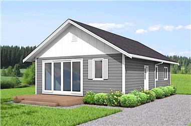 3-Bedroom, 967 Sq Ft Ranch House - Plan #177-1048 - Front Exterior