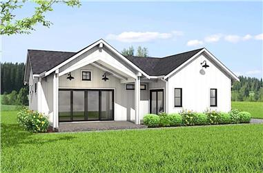 1–2-Bedroom, 1043 Sq Ft Ranch House - Plan #177-1050 - Front Exterior
