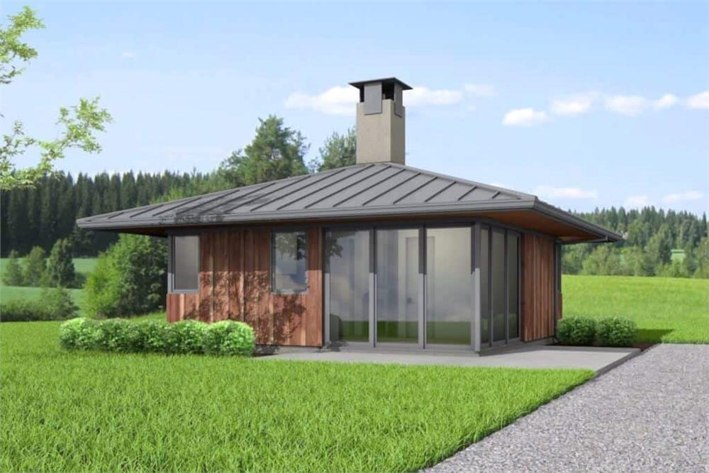 Contemporary home (ThePlanCollection: Plan #177-1051)