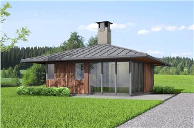 2-Bedroom, 576 Sq Ft Contemporary Home - Plan -#177-1051 - Main Exterior