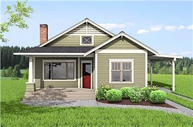 2-Bedroom, 1112 Sq Ft Ranch Home - Plan #177-1052 - Main Exterior
