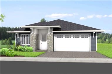 3-Bedroom, 2306 Sq Ft Ranch Style House - Plan #177-1053 - Front Exterior