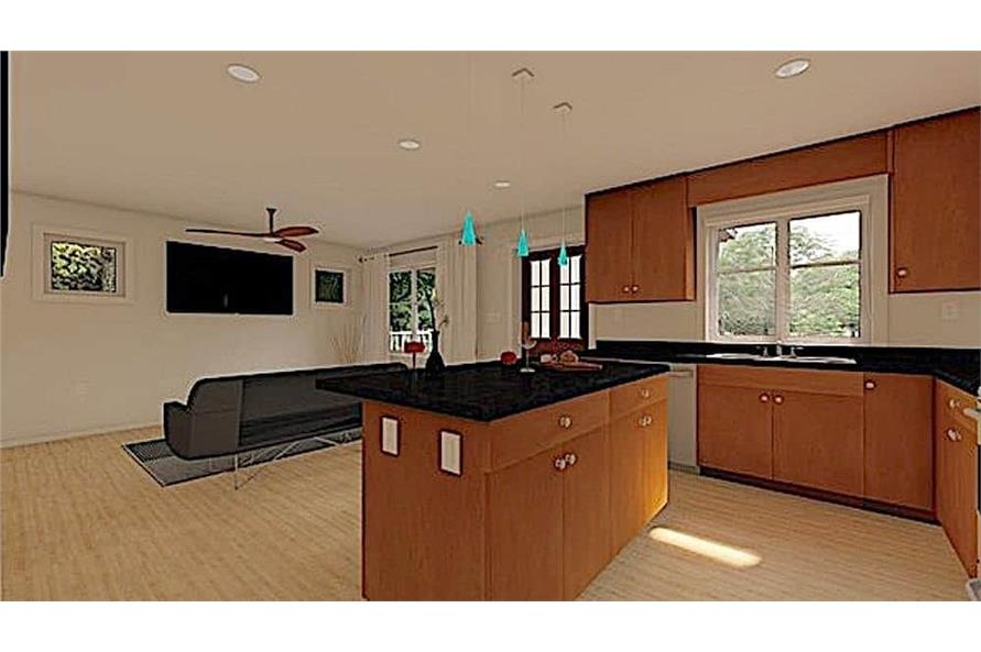 Kitchen of this 1-Bedroom,624 Sq Ft Plan -177-1054