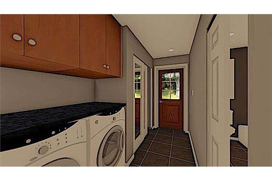 Laundry Room of this 1-Bedroom,624 Sq Ft Plan -177-1054