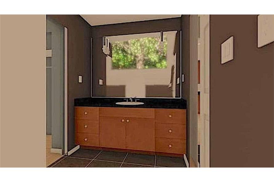 Master Bathroom of this 1-Bedroom,624 Sq Ft Plan -177-1054