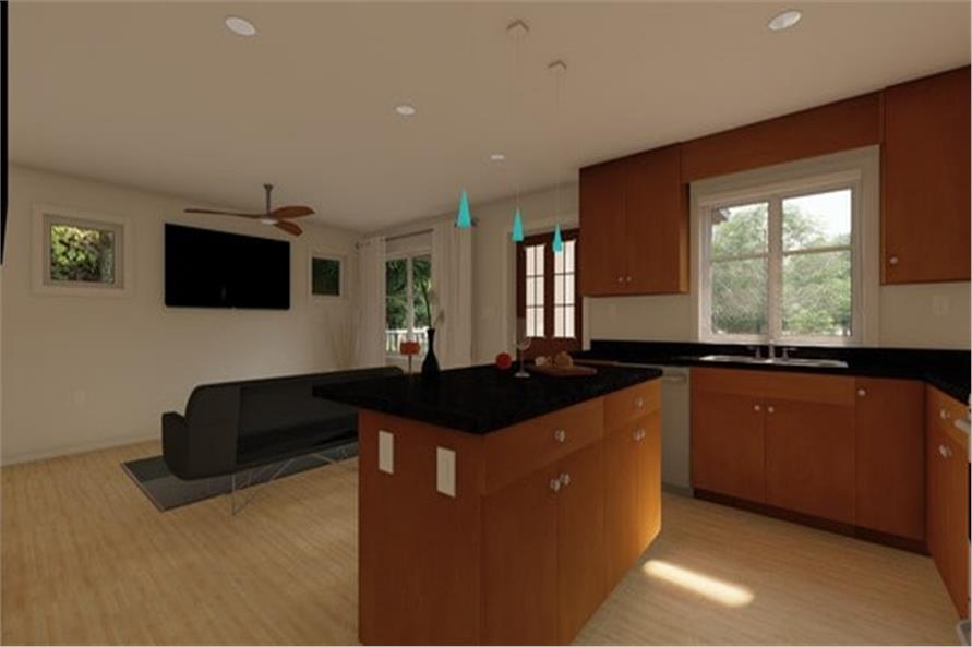 177-1054: Home Plan Rendering-Kitchen