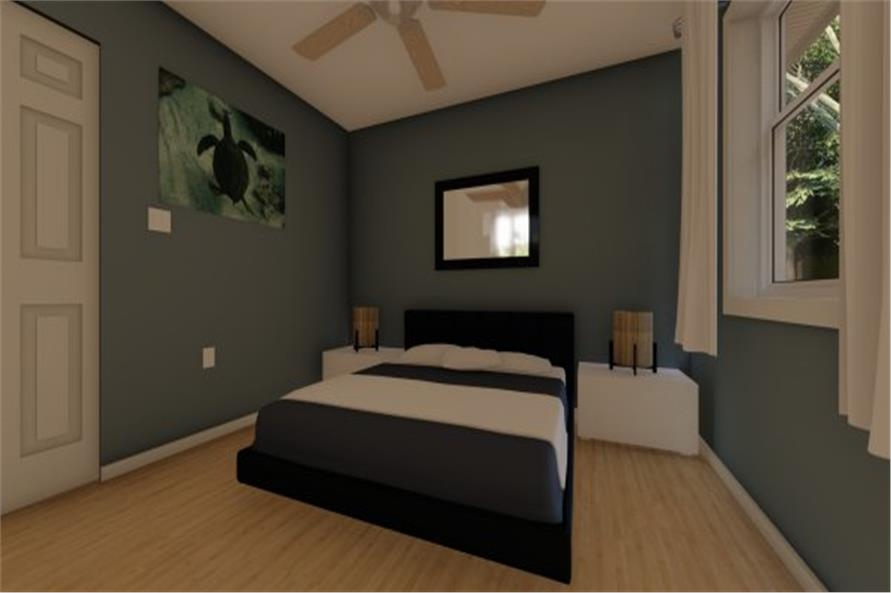 177-1054: Home Plan Rendering-Master Bedroom