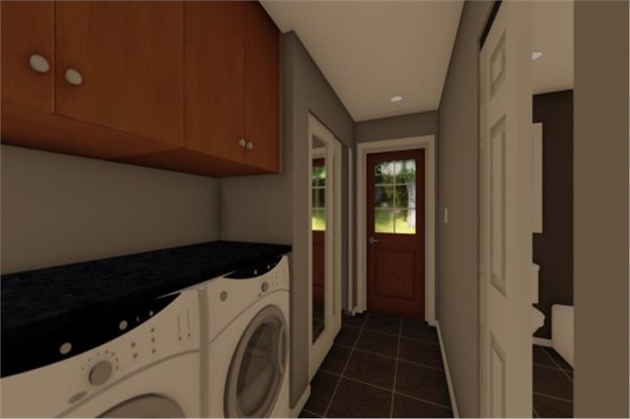 177-1054: Home Plan Rendering-Laundry Room