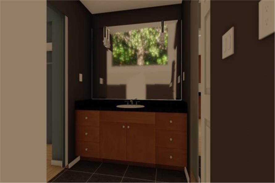 177-1054: Home Plan Rendering-Bathroom