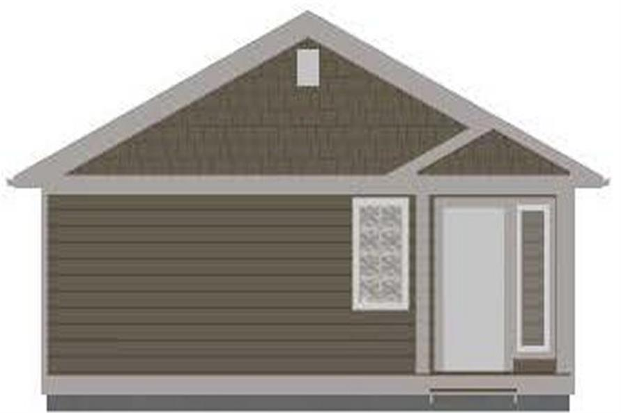 177-1054: Home Plan Rear Elevation