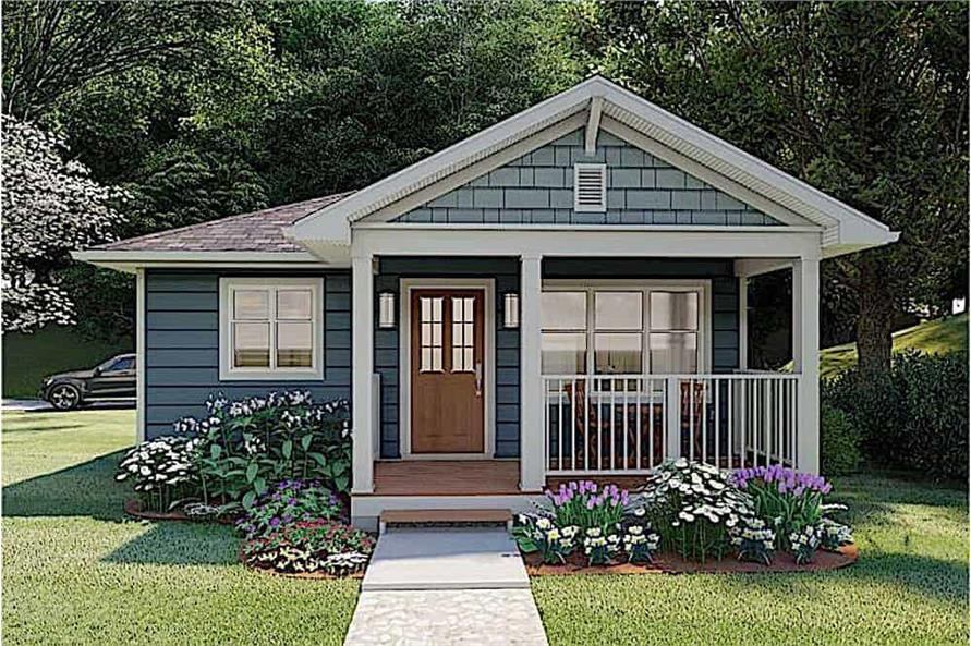 1-Bedroom, 624 Sq Ft Ranch Home - Plan #177-1054 - Main Exterior