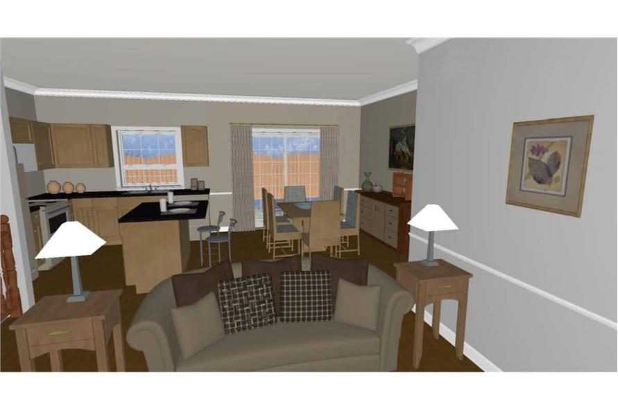 177-1055: Home Plan Rendering-Great Room