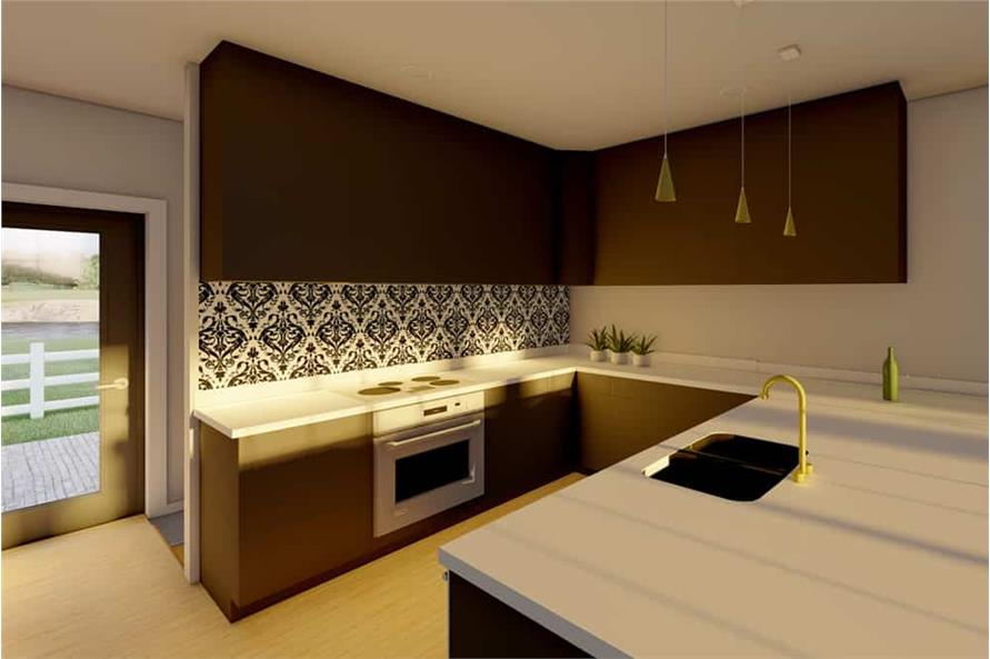 Kitchen of this 1-Bedroom,1024 Sq Ft Plan -177-1056