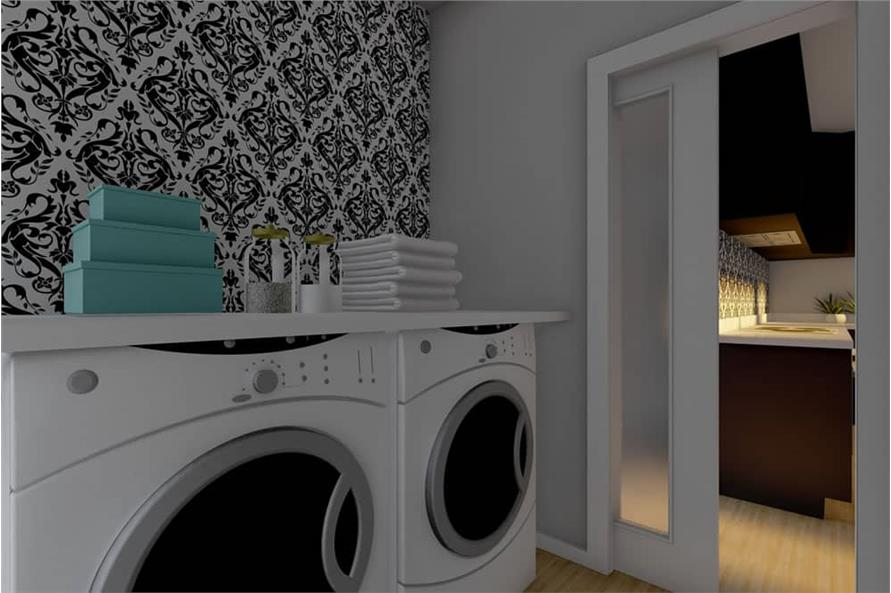 Laundry Room of this 1-Bedroom,1024 Sq Ft Plan -177-1056