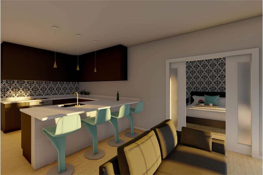 Home Plan Rendering of this 1-Bedroom,1024 Sq Ft Plan -177-1056