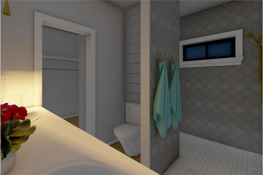 Master Bathroom of this 1-Bedroom,1024 Sq Ft Plan -177-1056