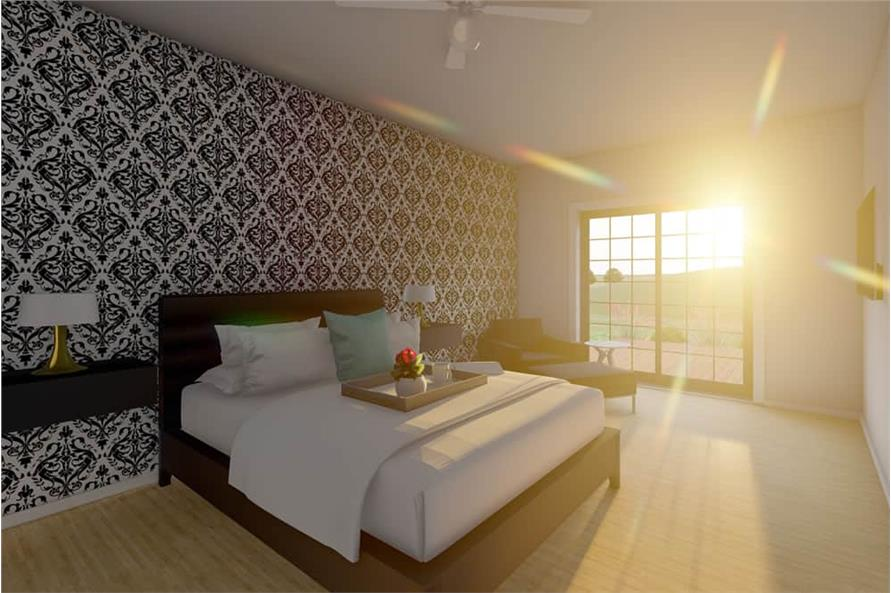 Master Bedroom of this 1-Bedroom,1024 Sq Ft Plan -177-1056