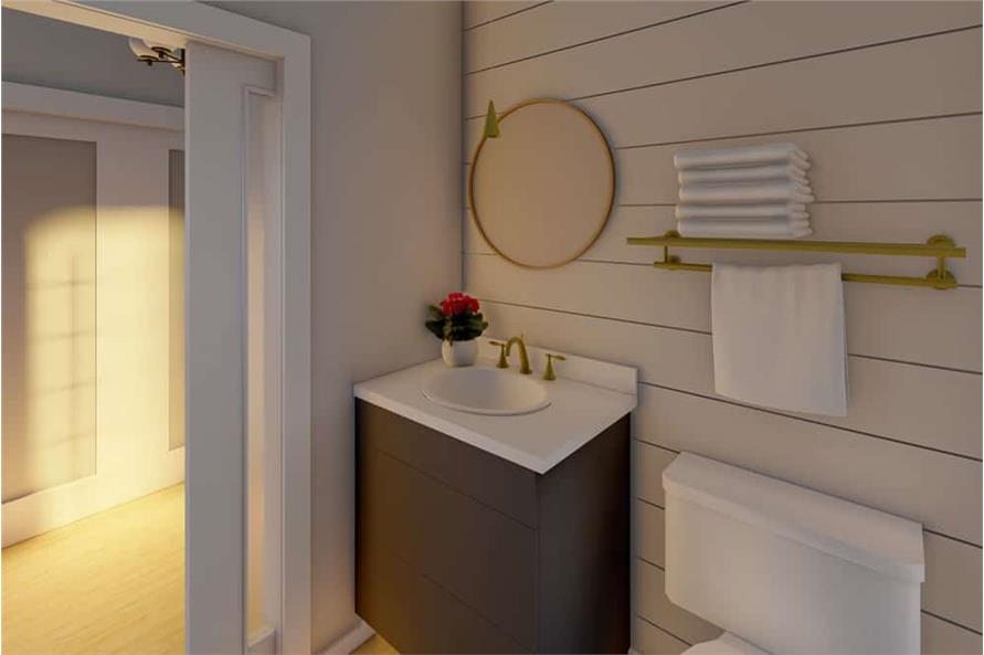 Powder Room of this 1-Bedroom,1024 Sq Ft Plan -177-1056