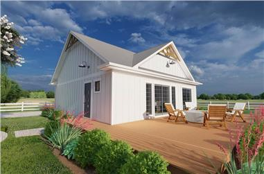 1-Bedroom, 1024 Sq Ft Small House - Plan #177-1056 - Main Exterior