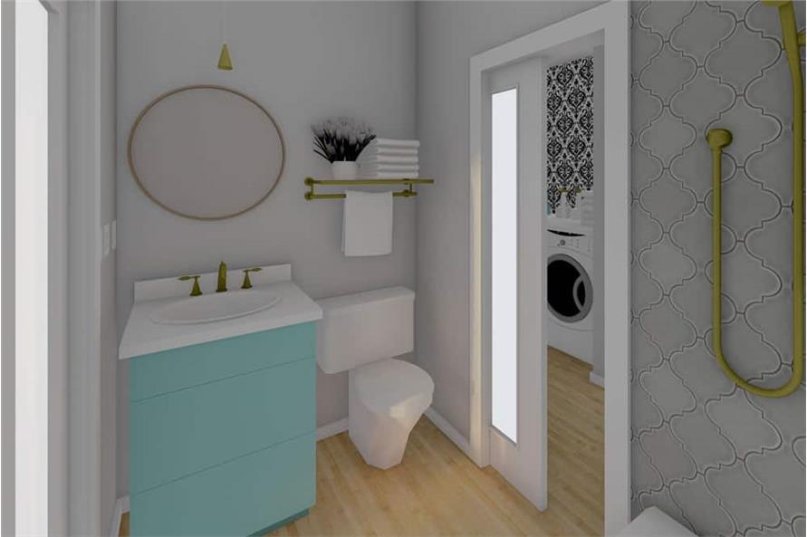 Bathroom of this 1-Bedroom,928 Sq Ft Plan -177-1057