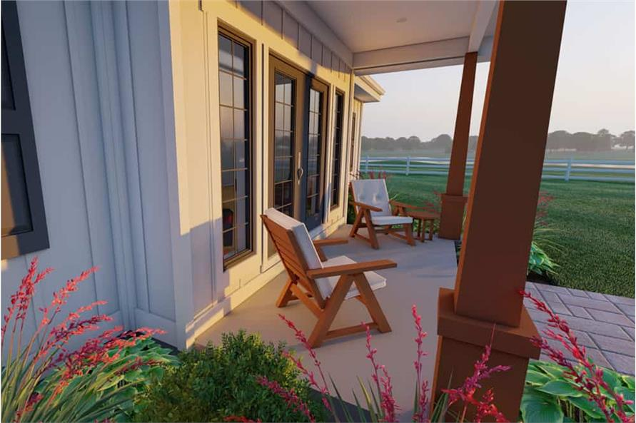 Porch of this 1-Bedroom,928 Sq Ft Plan -177-1057