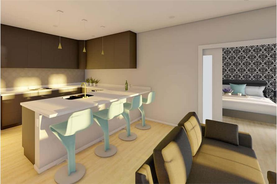Kitchen of this 1-Bedroom,928 Sq Ft Plan -177-1057