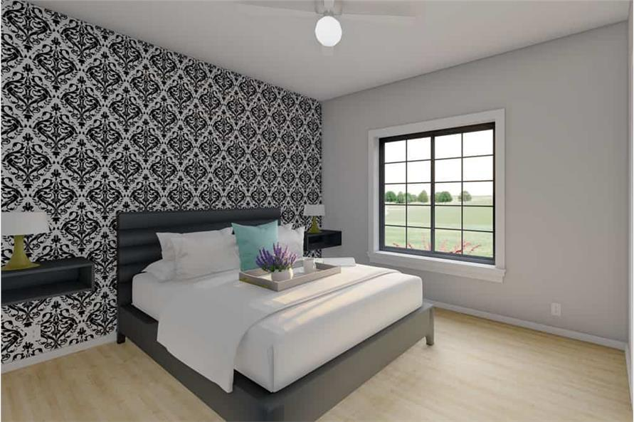 Master Bedroom of this 1-Bedroom,928 Sq Ft Plan -177-1057