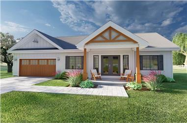 2-Bedroom, 928 Sq Ft Small Home - Plan #177-1057 - Main Exterior