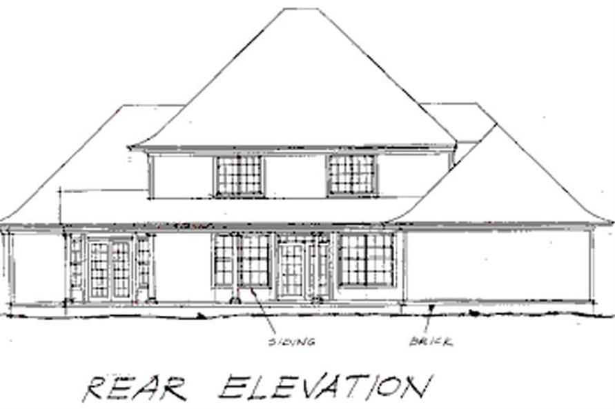 Home Plan Rear Elevation of this 4-Bedroom,2935 Sq Ft Plan -178-1000