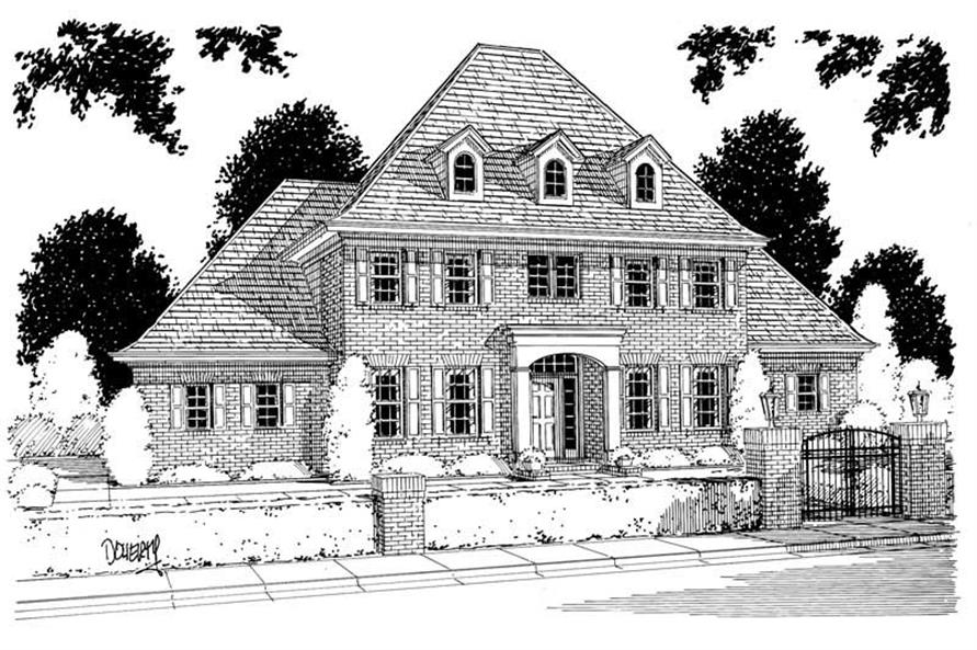 4-Bedroom, 2935 Sq Ft European Home Plan - 178-1000 - Main Exterior