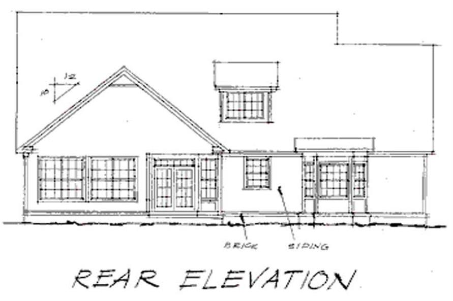 Home Plan Rear Elevation of this 4-Bedroom,2874 Sq Ft Plan -178-1001