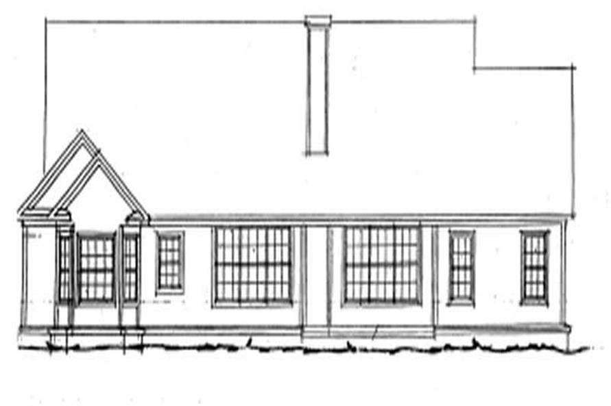 Home Plan Rear Elevation of this 3-Bedroom,2126 Sq Ft Plan -178-1003