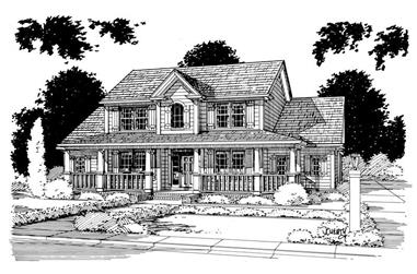 3-Bedroom, 2101 Sq Ft Country Home Plan - 178-1004 - Main Exterior