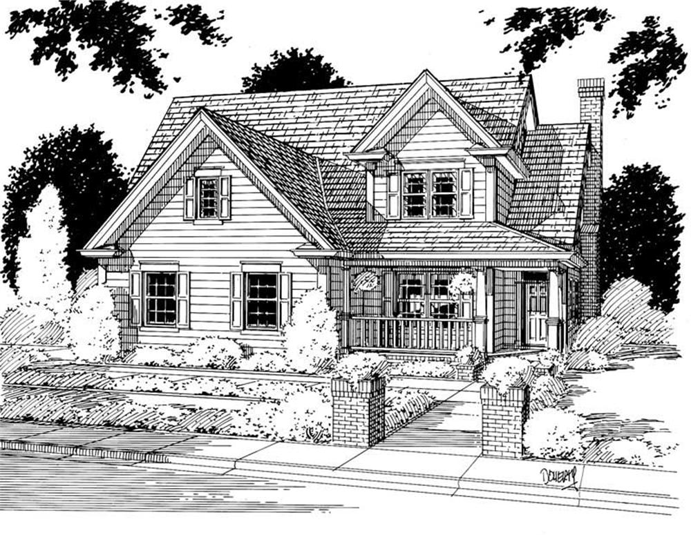 Main image for house plan # 5372