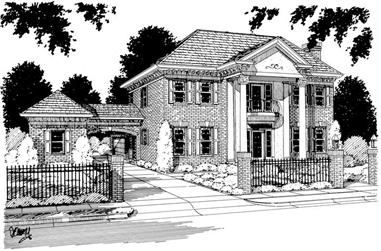 4-Bedroom, 2284 Sq Ft Colonial Home Plan - 178-1007 - Main Exterior