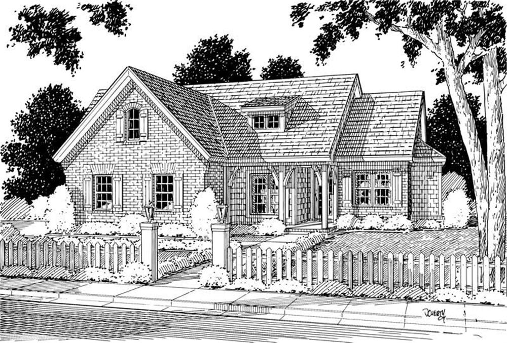 Front elevation of Small House Plans home (ThePlanCollection: House Plan #178-1010)