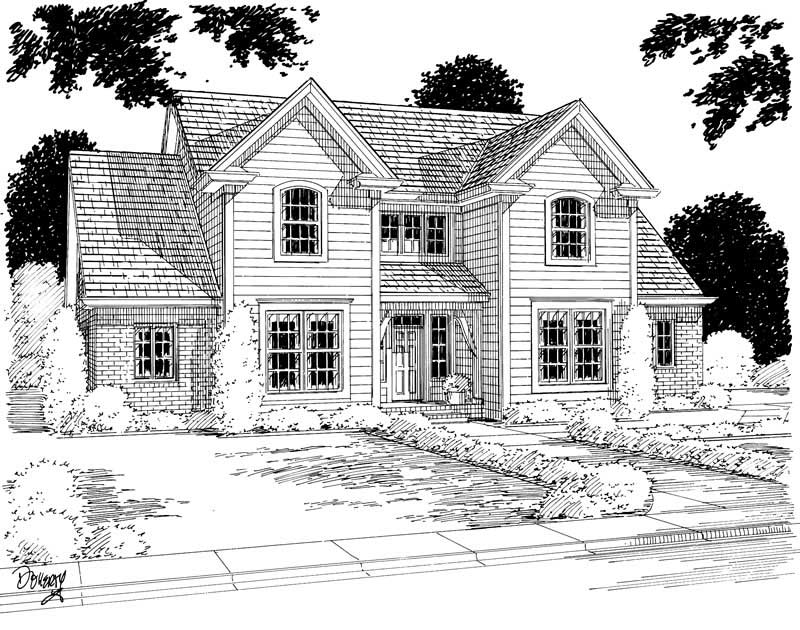 Traditional country house plans home design westport 5383 for Westport homes ranch floor plans