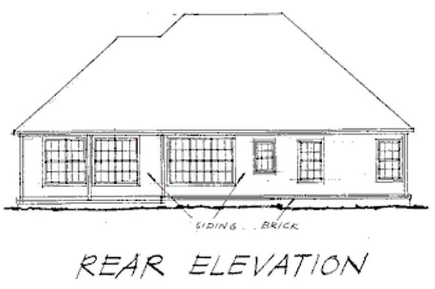 Home Plan Rear Elevation of this 3-Bedroom,1810 Sq Ft Plan -178-1013
