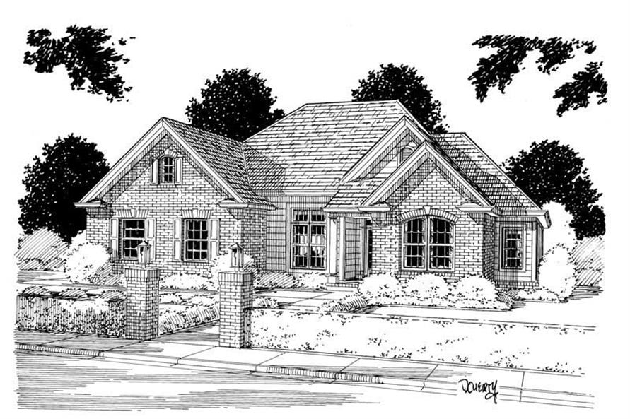 3-Bedroom, 1810 Sq Ft Ranch Home Plan - 178-1013 - Main Exterior