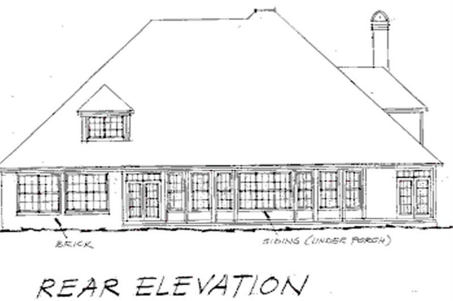 Home Plan Rear Elevation of this 4-Bedroom,3844 Sq Ft Plan -178-1014
