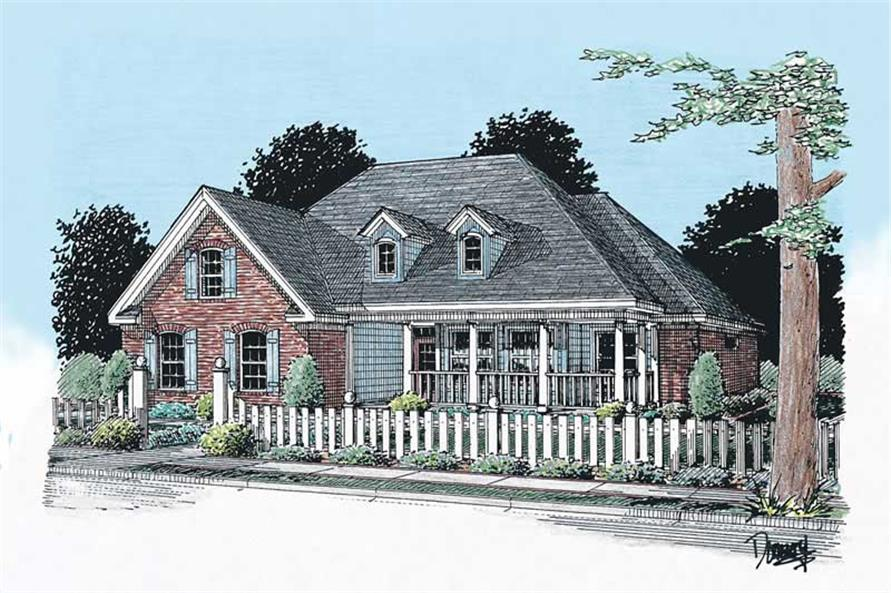 3-Bedroom, 1604 Sq Ft Small House Plans - 178-1015 - Front Exterior