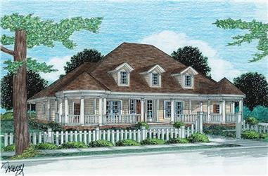 4-Bedroom, 2349 Sq Ft Country House Plan - 178-1016 - Front Exterior