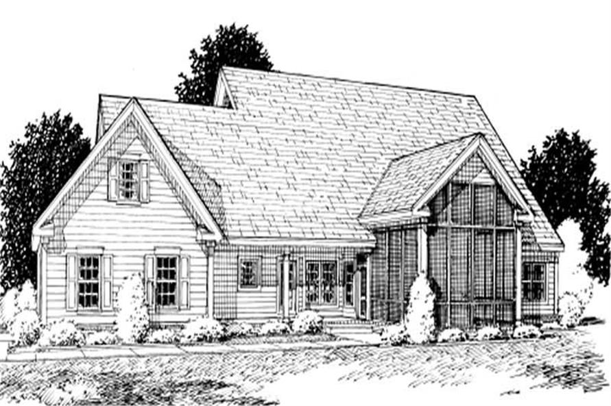 Home Plan Rear Elevation of this 4-Bedroom,2438 Sq Ft Plan -178-1017