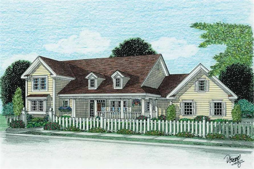 4-Bedroom, 2438 Sq Ft Country House Plan - 178-1017 - Front Exterior